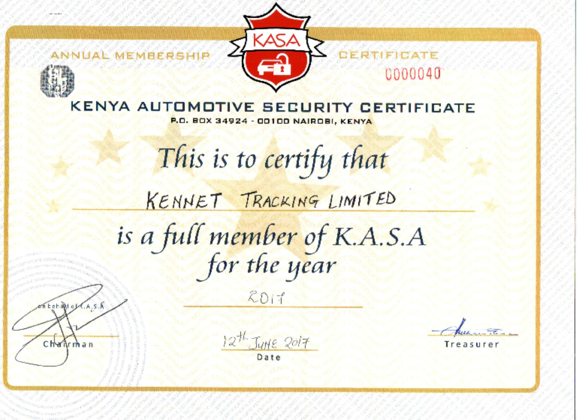 KENNET TRACKING LIMITED